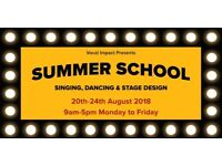 Performing Arts Summer School 2018 - Singing, Dancing and Stage Design