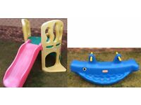 Little Tikes Hide and Slide Climber + Whale Teeter-Totter See-Saw