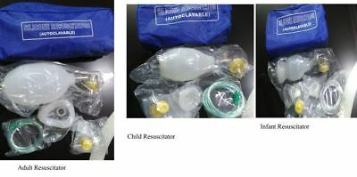 Manual Resuscitator Ambu Bag Oxygen Tube Cpr First Aid Kit Adult Child Infant