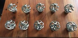 5 Pairs Satin Nickel Curtain Finials to Fit 35mm pole