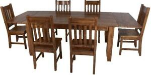 Amish Mennonites Handcrafted Solid Wood Dining Table sets