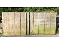 6x6 foot wooden lap fence panels 3 available