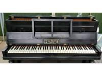 BLACK upright Vintage Sounding Piano Chas Stokes & Co. H. Bord PARIS