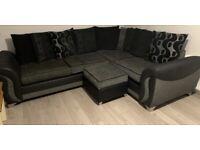 Corner Sofa & Swivel Chair & Storage Footstool