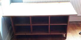 Large coffee table with plenty of storage. W = 120cm H=54cm D=59cm.