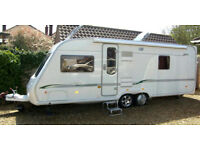 BESSACARR CAMEO 625GL CARAVAN TWIN AXLE FIXED BED, CANOPY & SIDES, MOVER 2005