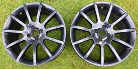 "Rare Pair of MGF Trophy 160 Alloy Wheels 17"" x 7.5"" (Yes, 17""). Ariel Atom, Elise, Exige ?"