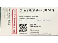 Chase & Status tickets x2