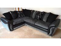 Large 3 seater stylish corner sofa rrp £849