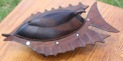 SERVING DISH, WOOD, BEAUTIFULLY HANDCRAFTED Warriewood Pittwater Area Preview