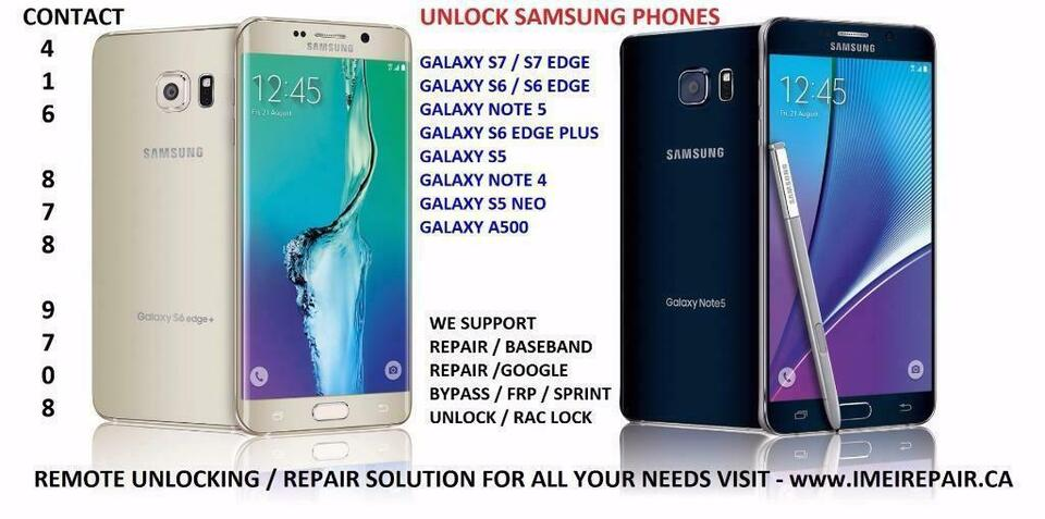 Galaxy S10, S10+, Note9, S9, S9+, Note 8, S8, S8+, S7, S7