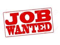 Any Job Wanted