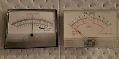 Set Of Two Brand New Analog Panel Meters
