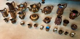 JOB LOT COLLECTION OF 25 x VICTORIAN LUSTREWARE PIECES