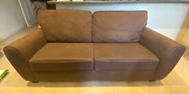 3 + 2 Brown Sofas