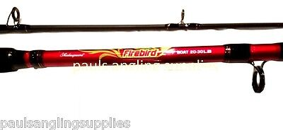 Shakespeare Firebird Boat Fishing Rod 20-30 Lb Class 2 piece