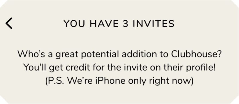 READ READ READ!!!!! DESCRIPTION FIRST!!!!!Clubhouse App Invite - iOS Only