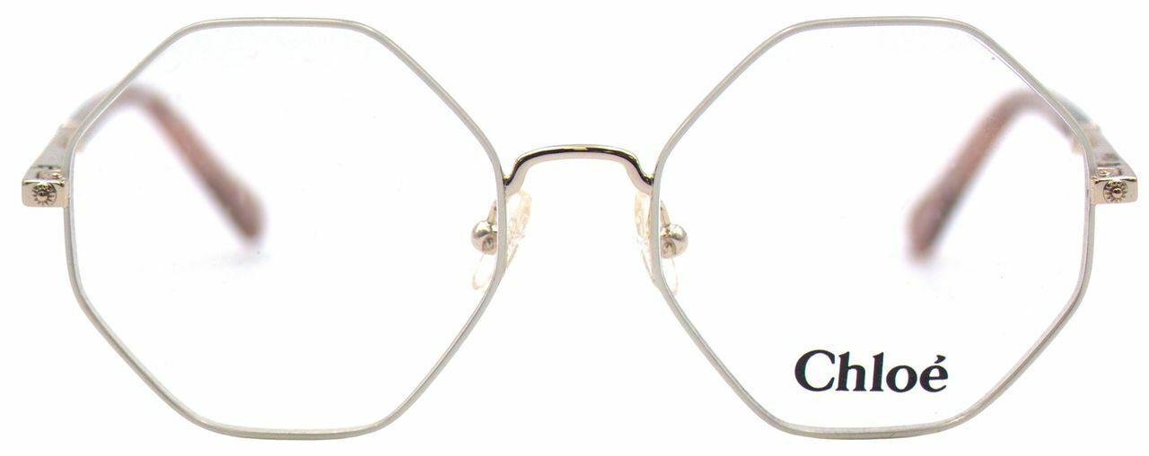 Chloé Damen Brillenfassung CE3104 756 46mm gold weiß eckig