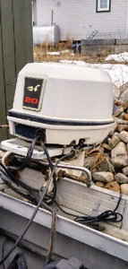 1994 20 HP Johnson outboard motor with control
