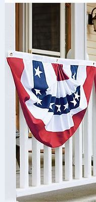 "PATRIOTIC AMERICAN BUNTING SWAG FLAG JULY 4TH  SEWN USA  36"" x 18"""