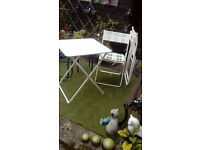 IKEA FOLDING TABLE AND 2 CHAIRS (indoors/outdoors)