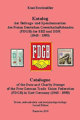 DDR.Katalog Beitragsmarken+Spendenmarken.FDGB.East Germany.Trade Union. Revenues