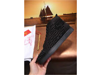 Christian Louboutin studded spikes HiTops sneakers Loubs