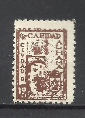 7053-SELLO LOCAL ESPAÑA GUERRA CIVIL ALHAMA D GRANADA CARIDAD,SOBRETASA NACIONAL