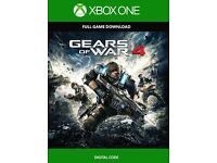 gears of war 4 with all codes to unlock the previous gears of war card brand new used once