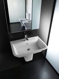 Roca gap bathroom sink and pedestal