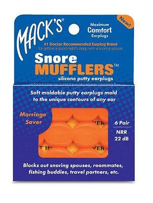Mack's Snore Mufflers - Maximum Comfort Silicone Putty Earpl