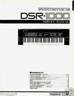 Yamaha DSR-1000 Programmierbar Fm Tastatur Original Service Manual, Schemata gebraucht kaufen  Versand nach Germany