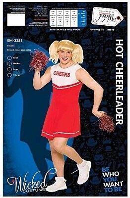 Mens Girls Stag Party Hot High School Cheerleader Costume Adult  Fancy Dress - Hot Cheerleader Kostüm
