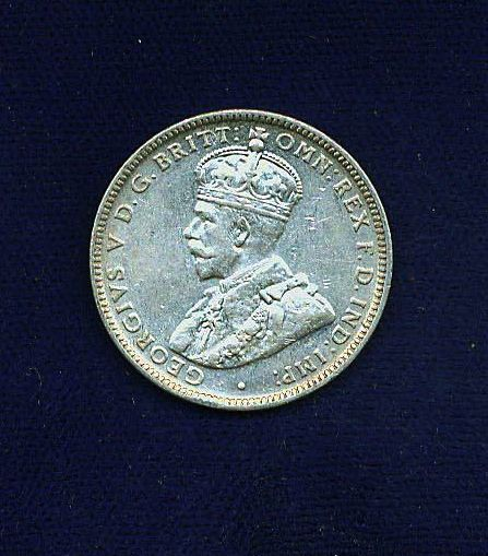 AUSTRALIA GEORGE V 1920-M 1 SHILLING SILVER COIN  XF to ALMOST UNCIRCULATED