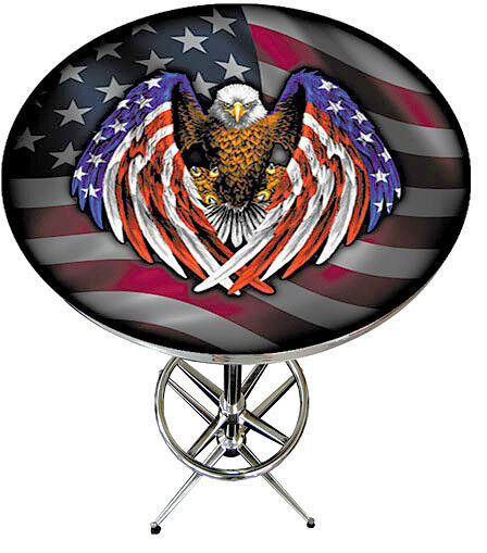 American Bald Eagle with Flag Pub Table - BEAUTIFUL
