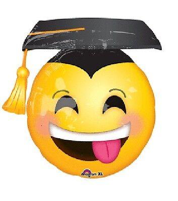 Party Hat Emoji (GRAD Hat Graduation Party Smiley Face Awesome Emoji Emoticon Mylar)