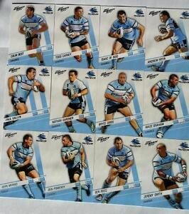 2012 NRL SELECT DYNASTY CRONULLA SHARKS TEAM SET 12 CARDS