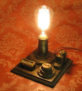 Thomas edison conrow vario lamp vintage antique light for Decor 52 fan celano ma dw