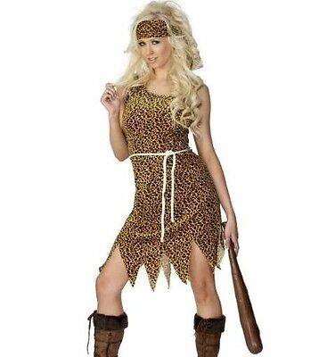 Ladies Cavewoman Fancy Dress Costume Cave Woman Outfit New by Smiffys - Cavewoman Outfit