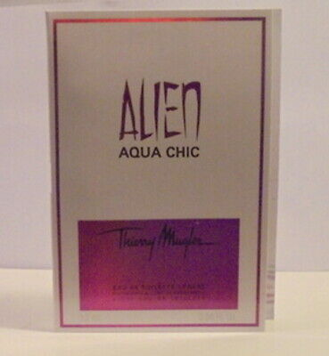 Alien Mugler Aqua Chic Perfume Parfum Test Sample Bottle Royal Woman Fragrance