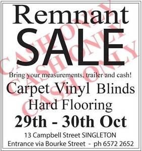 Carpet Remnant Sale 29th - 30th October Singleton Singleton Area Preview