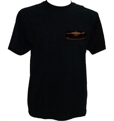 T-Shirt Schwimmtaucher schwarz,Schwertfisch,Spezialisierte Einsatzkräfte Marine