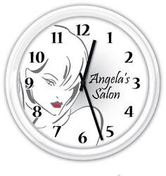 Beauty Hair Salon PERSONALIZED Wall Clock Nail Skin Care Spa Stylist GIFT