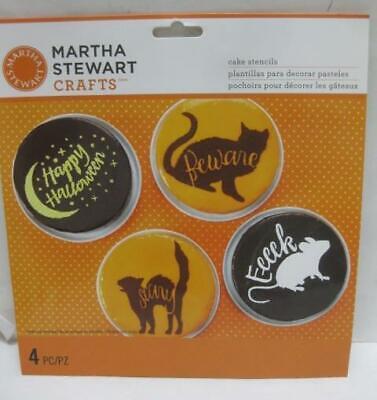MARTHA STEWART cake STENCILS Happy Halloween holiday party cat mouse (Martha Stewart Halloween Cake)