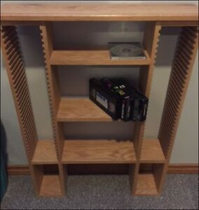 MEDIA / CD STAND - SOLID OAK - LIGHT OAK COLOR