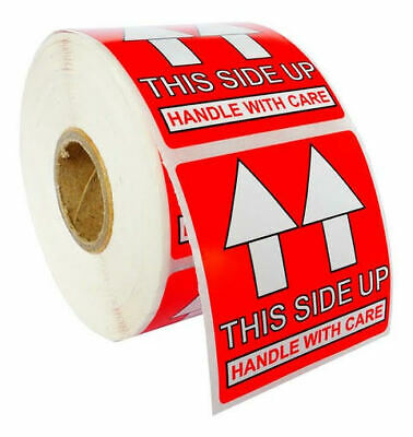 Pre-printed This Side Up Labelsstickers 2x2 2 X 2 - 1 Roll Of 500