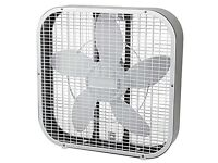 2 x 20 inch Box Fans: 1 new 1 used. Very powerful and effective! None in the UK like it!