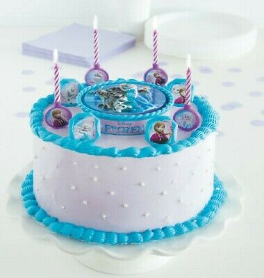 Frozen 17 piece Cake Decor Kit Candles, Candle holders, rings, cake topper ()