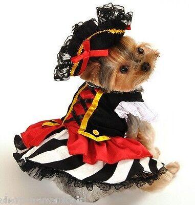 Haustier Hund Katze Piraten Mädchen Halloween Weihnachten Kostüm Kleid Outfit