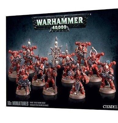 Warhammer 40k Chaos Space Marines Squad NIB